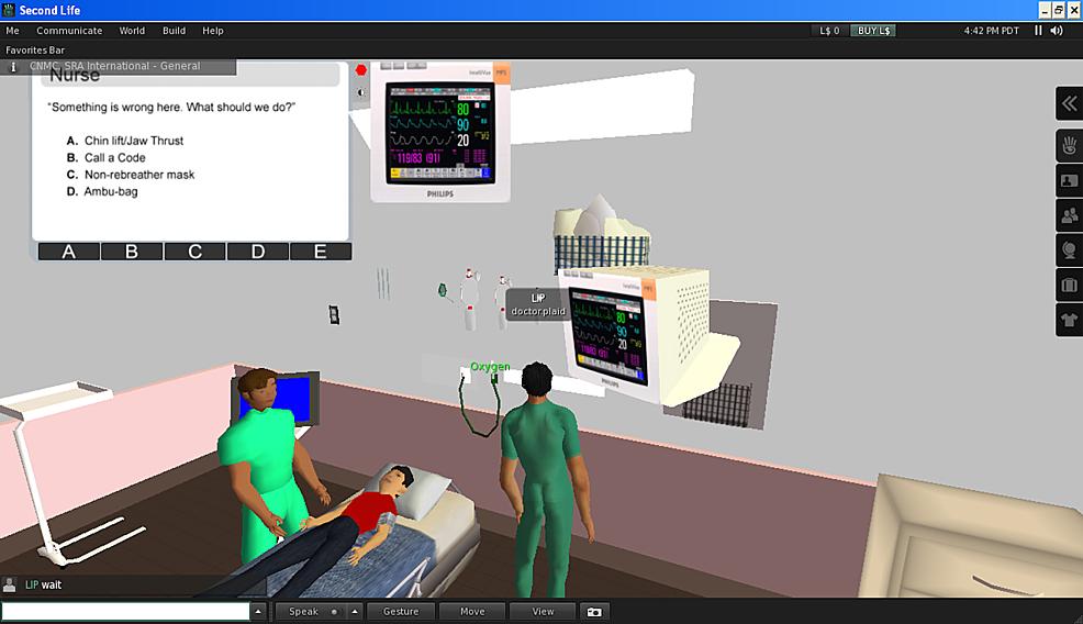 Virtual-reality-sedation-environment