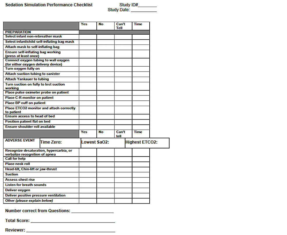 Sedation-Simulation-Checklist