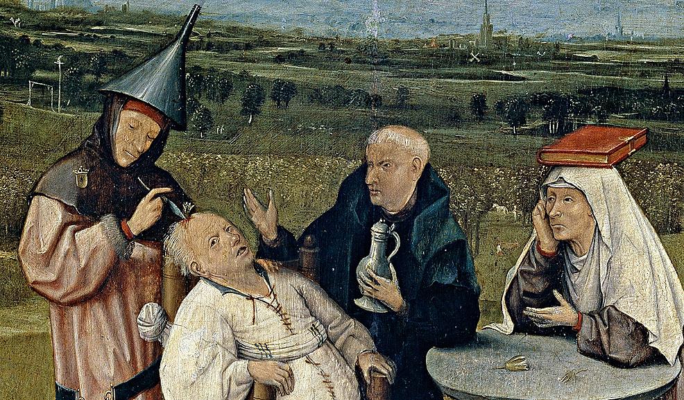 Cutting-the-Stone,-Jheronimus-Bosch,-1494.-Museo-Prado,-Madrid.