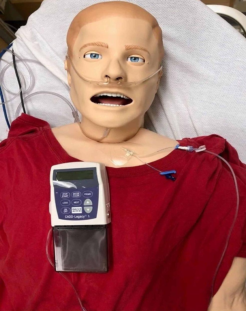 Intravenous-Remodulin®-pump-mannequin-setup