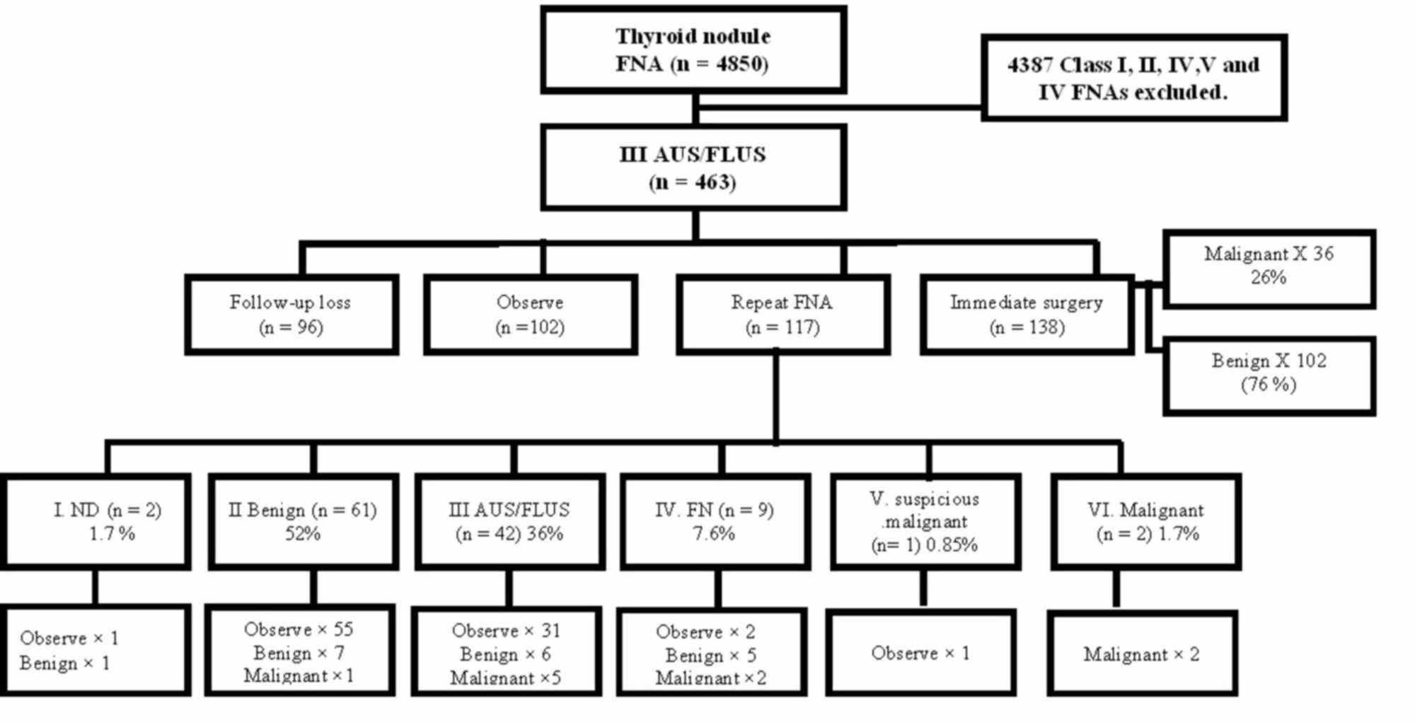 Cureus Risk Stratification Of Thyroid Nodules With Bethesda Iii