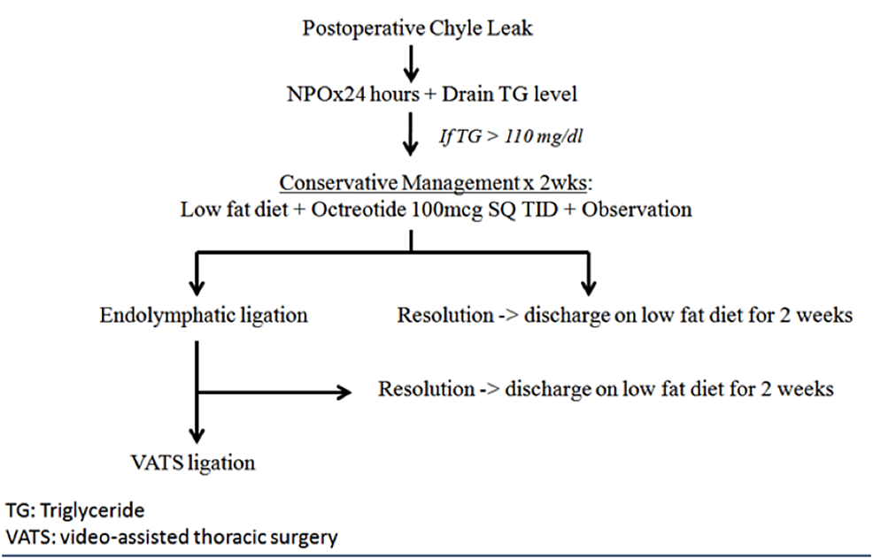 Management-algorithm-for-use-with-postoperative-chyle-leaks