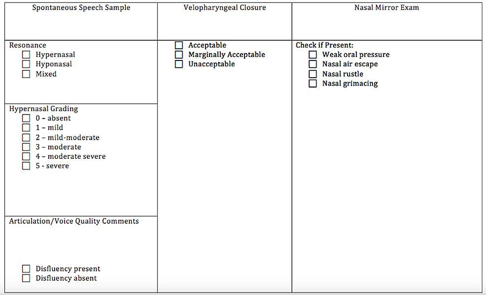 Perceptual-Speech-Assessment-Form