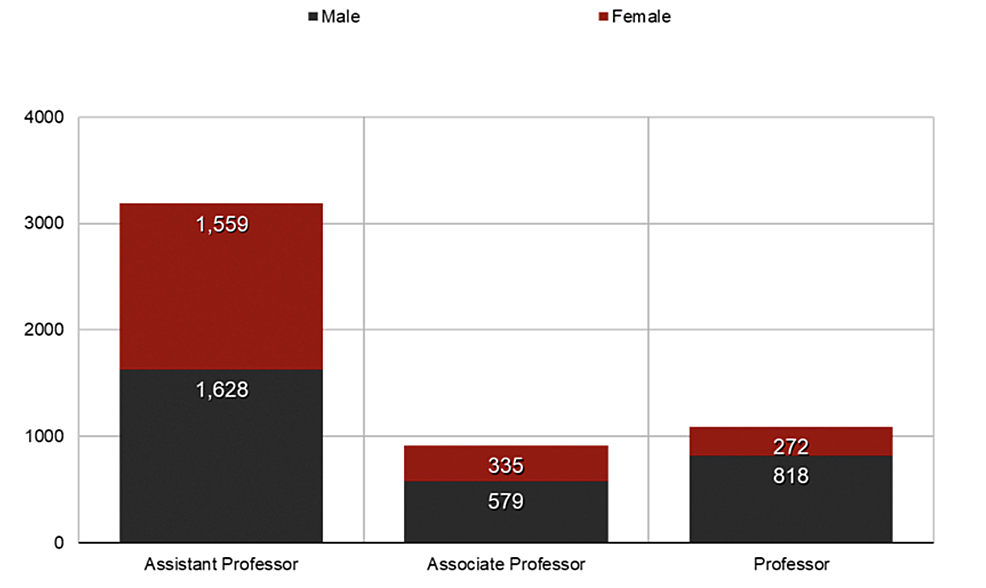 Gender-distribution-by-academic-ranks.