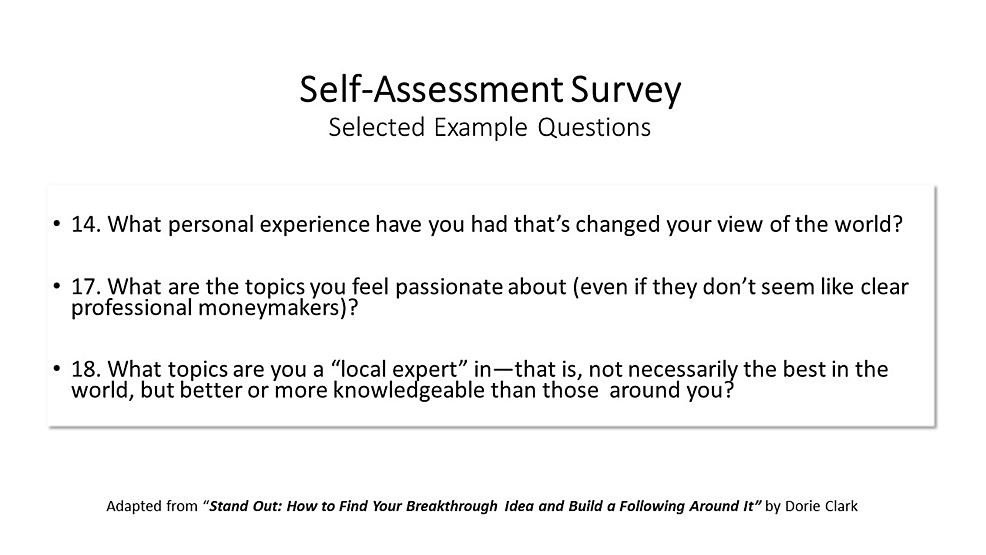 Self-assessment-Survey