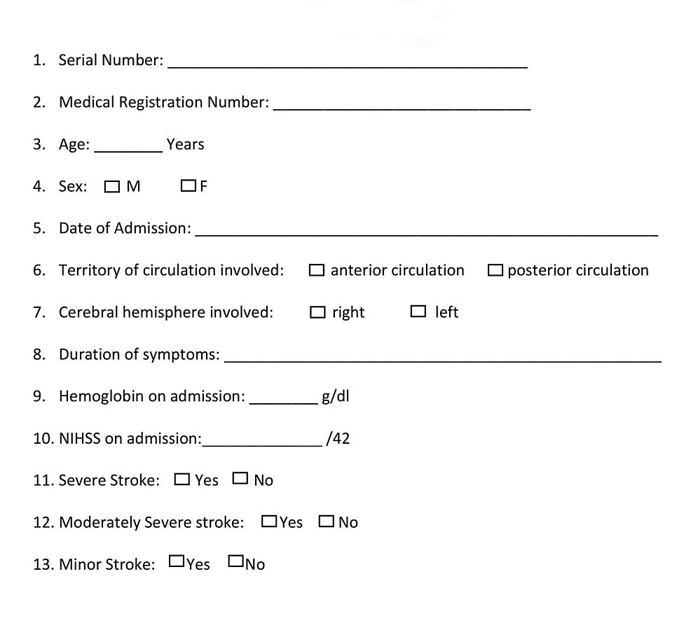 Medical-data-collection-form
