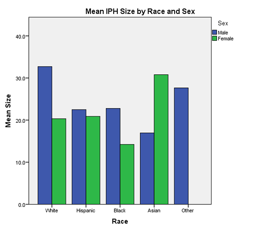 Mean-intraparenchymal hemorrhage-size-by-race-and-sex