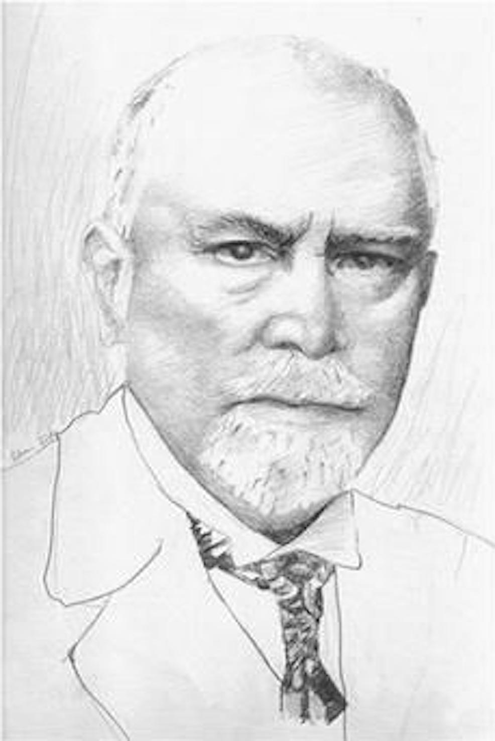 A-sketch-of-Heinrich-Ewald-Hering-by-Salva-M.-Shoja