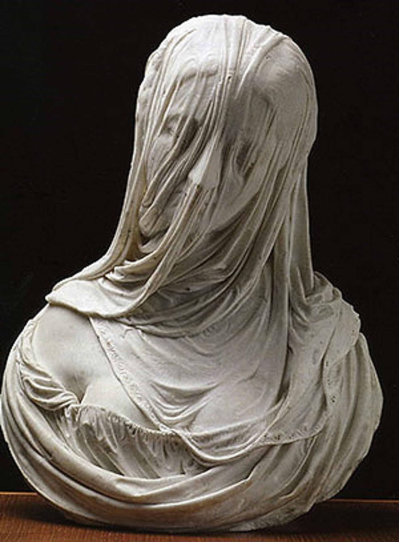 """The-statue-of-the-""""Busto-di-Donna-Velata""""-by-the-sculptor-Corradini-(1717)"""