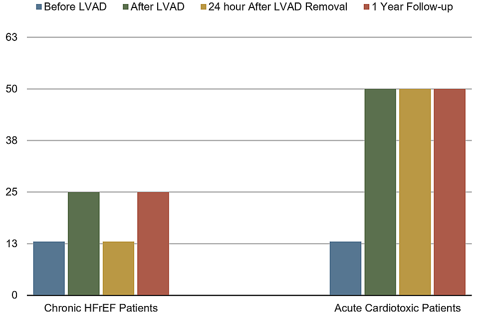Comparison-of-ejection-fractions-before-and-after-LVAD-implantation-in-chronic-heart-failure-and-acute-cardio-toxic-patients