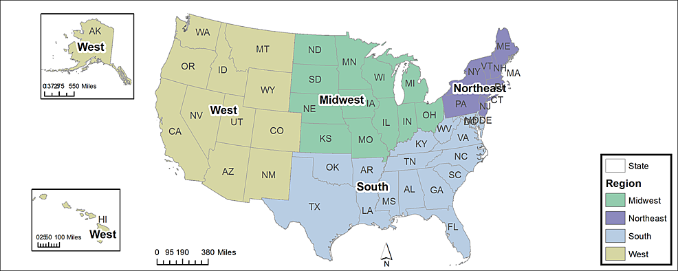 The-four-geographic-regions-as-determined-by-the-United-States-Census-Bureau-(http://www.census.gov/geo/reference/webatlas/regions.html)