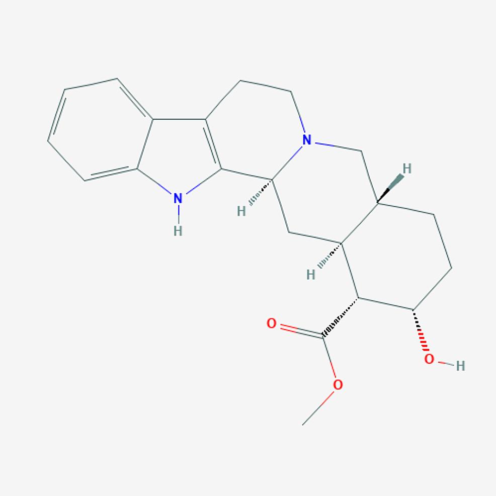 Yohimbine-–--molecular-formula:-C21H26N2O3;-molecular-weight:-354.4-g/mol.