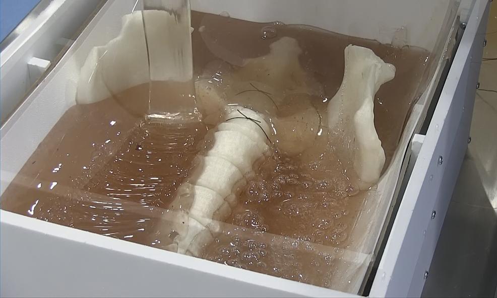 Pouring-gelatin-matrix.