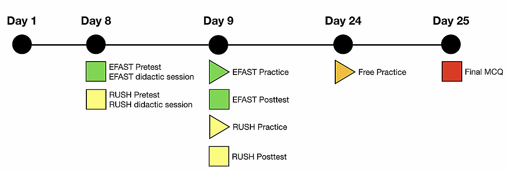 Time-frame-of-teaching-and-assessment-sessions-for-the-EFAST-and-RUSH-protocols