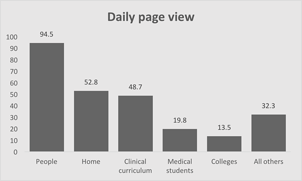 Daily-website-page-views-by-page