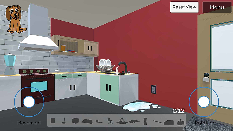 Displays-the-view-behind-the-kitchen-counter,-where-a-player-can-see-hazards-like-the-running-faucet-and-open-kitchen-cabinet