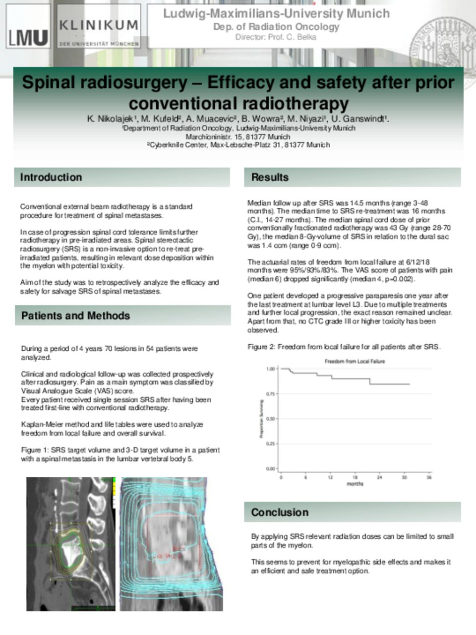 Cureus Spinal Radiosurgery Efficacy And Safety After